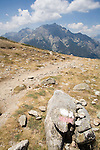 Corsica, France, GR Footpath, GR20, Hiking Trail down spine of Corsica, Monte 'd Oro, Europe, Mediterranean Islands,.