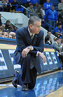 December 12, 2015 - Colorado Springs, Colorado, U.S. -  Air Force head coach, Dave Pilipovich, during an NCAA basketball game between the Army West Point Black Knights and the Air Force Academy Falcons at Clune Arena, U.S. Air Force Academy, Colorado Springs, Colorado.  Army West Point defeats Air Force 90-80.