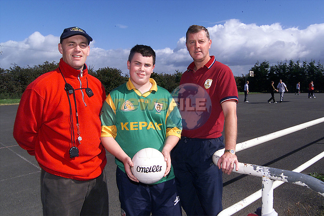 Padraig McCabe with St. Joseph's teachers Sean Kelly and Declan Smyth..Picture: Paul Mohan/Newsfile