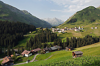 Austria, Vorarlberg, Warth: popular ski- and hiking-region