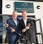 Ally McCoist and Murdo Macleod open the refurbished clubhouse at Torrance Park Golf Club near Motherwell