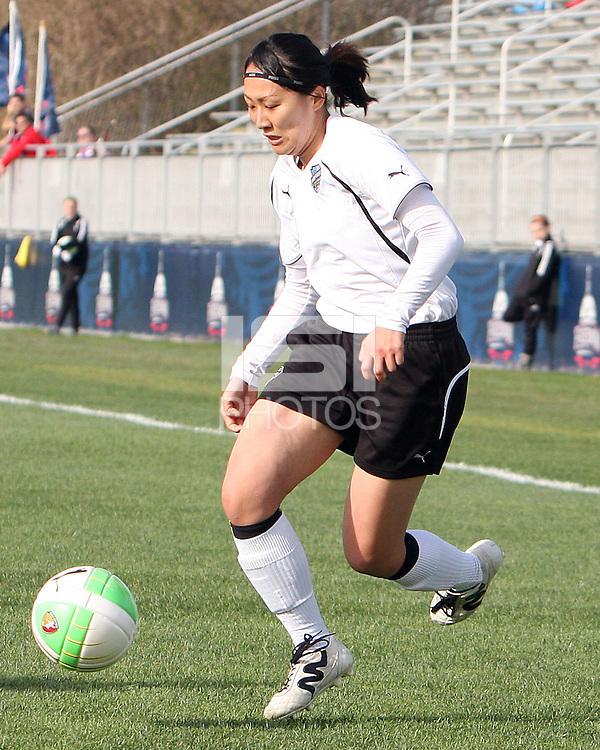 Karina Maruyama #11 of the Philadelphia Independence during a WPS pre season match against the Washington Freedom at the Maryland Soccerplex on March 27 2010 in Boyds, Maryland. The game ended in a 0-0 tie.
