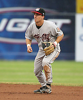 2007:  Matt Cusick of the Tri-City Valley Cats, Class-A affiliate of the Houston Astros, during the New York-Penn League baseball season.  Photo by Mike Janes/Four Seam Images