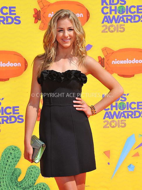 WWW.ACEPIXS.COM<br /> <br /> March 28 2015, LA<br /> <br /> Chloe Bennet arriving at Nickelodeon's 28th Annual Kids' Choice Awards at The Forum on March 28, 2015 in Inglewood, California. <br /> <br /> <br /> By Line: Peter West/ACE Pictures<br /> <br /> <br /> ACE Pictures, Inc.<br /> tel: 646 769 0430<br /> Email: info@acepixs.com<br /> www.acepixs.com
