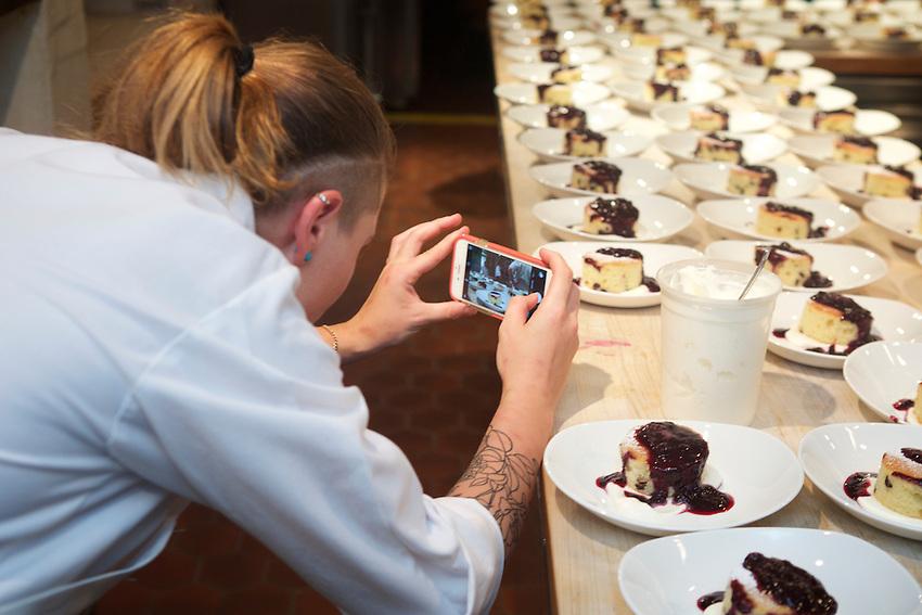 New York, NY - August 15, 2016: Chef Jordan Frosolone presents Ferragosto, a Midsummer Italian dinner at the James Beard House.<br /> <br /> CREDIT: Clay Williams for The James Beard Foundation.<br /> <br /> &copy; Clay Williams / claywilliamsphoto.com
