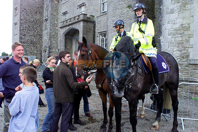 The Garda Mounted unit payed a visit tothe U2 Concert in Slane yesterday for Crowd Control.Pic Fran Caffrey Newsfile