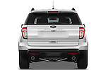 Straight rear view of a 2011 Ford Explorer XLT