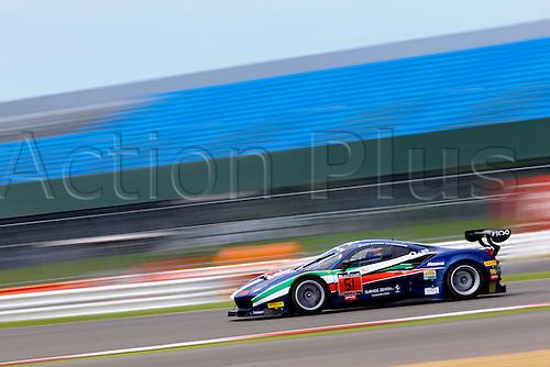 14.05.2016. Silvertone Circuit, Nathants, England. Blancpain Endurance GT Series motor racing.  #51 AF CORSE (ITA) FERRARI 488 GT3 PETER MANN (USA) FRANCISCO GUEDES (PRT) RINO MASTRONARDI (ITA)