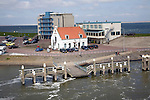 Hotel and restaurant by sea front, Den Helder, Netherlands