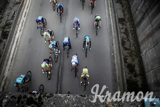 peloton from above. <br /> <br /> Circuit de Wallonie 2019<br /> One Day Race: Charleroi – Charleroi 192.2km (UCI 1.1.)<br /> Bingoal Cycling Cup 2019