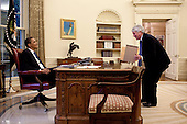 Washington, DC - June 11, 2009 -- United States President Barack Obama speaks with White House Counsel Gregory Craig in the Oval Office, June 11 2009.  .Mandatory Credit: Pete Souza - White House via CNP