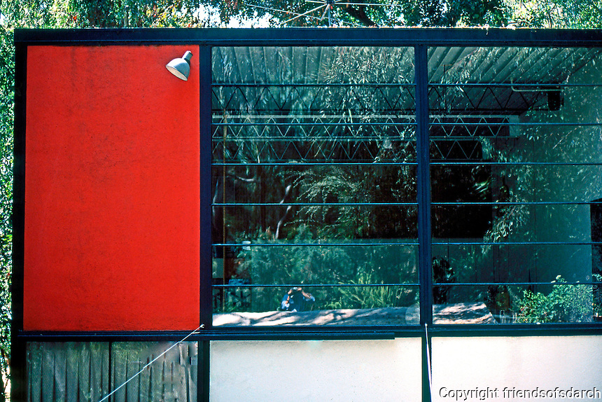 Charles Eames: Eames House and Studio. (East facade of studio. (Photo '78)