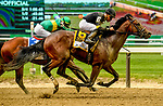 ELMONT, NY - JUNE 09: Still Having Fun  #6, ridden by Joel Rosario, wins the Woody Stephens Stakes on Belmont Stakes Day at Belmont Park on June 9, 2018 in Elmont, New York. (Photo by Carson Dennis/Eclipse Sportswire/Getty Images)
