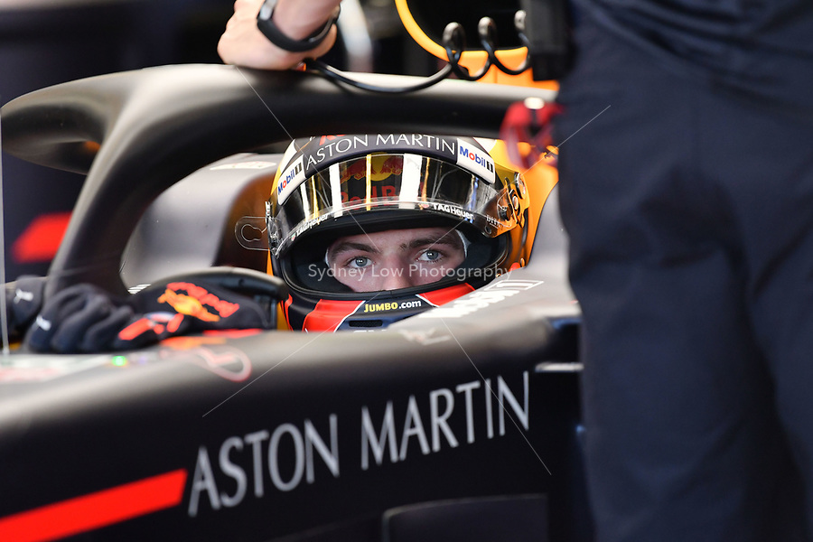 March 23, 2018: Max Verstappen (NLD) #33 from the Aston Martin Red Bull Racing team returns to his garage during practice session two at the 2018 Australian Formula One Grand Prix at Albert Park, Melbourne, Australia. Photo Sydney Low