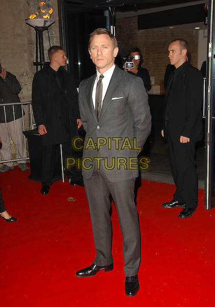 DANIEL CRAIG.The British Independent Film Awards, The Roundhouse, London, England..November 28th, 2007.full length grey gray suit.CAP/CAS.©Bob Cass/Capital Pictures