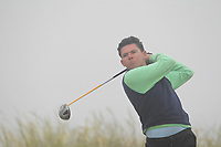Peter McKeever (Castle) on the 1st tee during Round 1 - Matchplay of the North of Ireland Championship at Royal Portrush Golf Club, Portrush, Co. Antrim on Wednesday 11th July 2018.<br /> Picture:  Thos Caffrey / Golffile