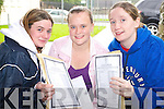 Killarney Community College students Katie Dineen, Amanda McSweeney and Rebecca Nagle with their leaving Cert results on Wednesday.   Copyright Kerry's Eye 2008