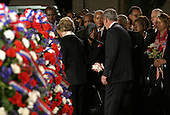 Washington, D.C. - October 30, 2005 -- United States President George W. Bush shakes hands with actress Cicely Tyson following a wreath laying ceremony for civil rights icon Rosa Parks, whose remains lie in honor in the United States Capitol Rotunda in Washington, D.C. on October 30, 2005..Credit: Martin H. Simon - Pool via CNP