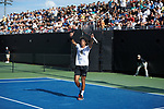 during the 2018 NCAA Men's Tennis Championship at the Wake Forest Tennis Center on May 22, 2018 in Winston-Salem, North Carolina.  The Demon Deacons defeated the Buckeyes 4-2. (Brian Westerholt/Sports On Film)