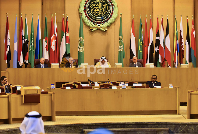 Saudi Prince Khaled Al-Faisal, founder of the Arab Thought Foundation speaks during a meeting in the Arab League's headquarters in the Egyptian capital, Cairo, on Dec. 06, 2015. The Arab Thought Foundation is an international independent non-governmental organization. It has no inclination to any party or religious group; it is rather dedicated to promote the Nation's pride with all its principles, values and ethics, in an atmosphere of a responsible freedom. Photo by Amr Sayed