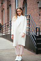 Kristina Bazan attends Day 3 of New York Fashion Week on Feb 14, 2015 (Photo by Hunter Abrams/Guest of a Guest)