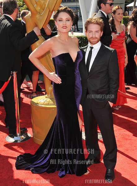 Seth Green & wife Clare Grant at the 2012 Primetime Creative Emmy Awards at the Nokia Theatre, LA Live..September 15, 2012  Los Angeles, CA.Picture: Paul Smith / Featureflash