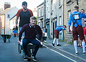 27/05/18<br /> <br /> A young man is sick on the pavement outside the second pub.<br /> <br /> Competitors take part in a vomit-inducing wheelbarrow-race around a one mile course stopping at seven pubs where the driver and passenger each have to down a half-pint of beer before racing off around the old market town of Wirksworth in the Derbyshire Dales.<br /> <br /> All Rights Reserved F Stop Press Ltd. +44 (0)1335 344240 +44 (0)7765 242650  www.fstoppress.com