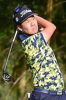 Kevin Na (USA) watches his tee shot on 9 during round 1 of the World Golf Championships, Mexico, Club De Golf Chapultepec, Mexico City, Mexico. 3/2/2017.<br /> Picture: Golffile | Ken Murray<br /> <br /> <br /> All photo usage must carry mandatory copyright credit (&copy; Golffile | Ken Murray)