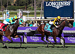 November 1, 2019: Four Wheel Drive, ridden by Irad Ortiz Jr., wins the Breeders' Cup Juvenile Turf Sprint on Breeders' Cup World Championship Friday at Santa Anita Park on November 1, 2019: in Arcadia, California. Bill Denver/Eclipse Sportswire/CSM