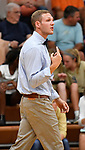New Althoff volleyball coach Tony Miner. Althoff defeated Columbia in two games in volleyball action on Thursday August 23, 2018.<br /> Tim Vizer/Special to STLhighschoolsports.com