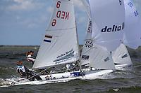 Medemblik - the Netherlands, May 28th 2010. Delta Lloyd Regatta in Medemblik (26/30 May 2010). Day 3.