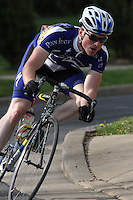 Penn State's Andrew Artz competes in the Men's D1 Criterium at the Eastern Collegiate Cycling Conference Championships on April 28, 2013. Artz finished second. Photo/©2013 Craig Houtz