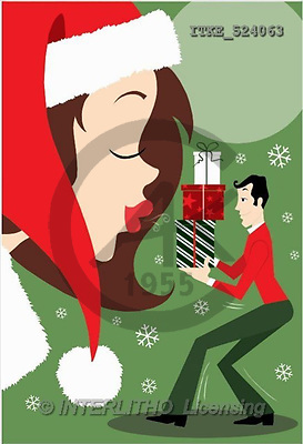 Isabella, CHRISTMAS SANTA, SNOWMAN, paintings(ITKE524063,#X#) Weihnachtsmänner, Schneemänner, Weihnachen, Papá Noel, muñecos de nieve, Navidad, illustrations, pinturas