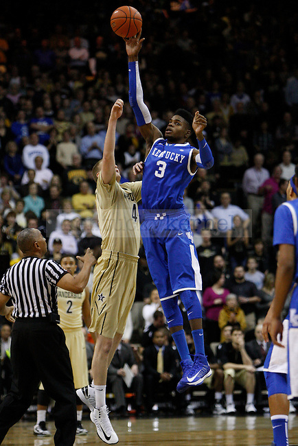 UK forward Nerlens Noel grabs the ball at the tip off during the first half of the UK vs. Vanderbilt men's basketball game at Memorial Gymnasium in Nashville, Tn., on Thursday, January 10, 2013. UK won 60-58. Photo by Tessa Lighty | Staff