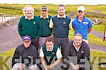The Dooks Junior Cup team to played Killorglin in Skellig Bay Golf Club on Saturday were front l-r; Paul Griffin, Michael Shaughnessy, Manager Mike 'The Chef' O'Sullivan, back l-r; John Houlihan, Denis McGillicuddy, Seamus Curran & Mikey O'Sullivan