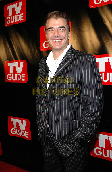 CHRIS NOTH.The New Big TV Guide launch party at the Home and Guest House Club in Chelsea, New York, New York. .October 11th, 2005.Photo Credit: Patti Ouderkirk/AdMedia/Capital Pictures.Ref: PO/ADM/CAP.half length black pinstripe suit jacket.www.capitalpictures.com.sales@capitalpictures.com.© Capital Pictures.