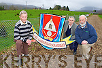 Kilgarvan GAA club chairman Tom Randles left and Jerh Lyne and Tadgh O'Donoghue right who are appealing for the church to sell the field adjacent to their GAA pitch to the club..