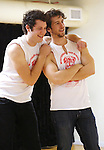 Jon Eidson and Evan Todd performing at the Open Press Rehearsal for 'Heathers The Musical' on February 19, 2014 at The Snapple Theatre Center in New York City.