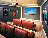 In Home Movie Theater With DPL Projector