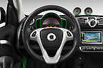 Car pictures of steering wheel view of a 2013 Smart FOR TWO Electric Drive 2 Door Convertible Steering Wheel