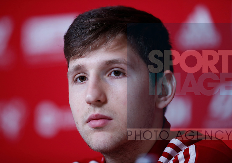 Panos Retsos of Sheffield Utd during the Press Conference & Training at the Steelphalt Academy, Sheffield. Picture date: 7th February 2020. Picture credit should read: Simon Bellis/Sportimage
