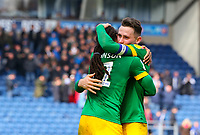 Preston North End's Alan Browne celebrates with Daniel Johnson after the match<br /> <br /> Photographer Alex Dodd/CameraSport<br /> <br /> The EFL Sky Bet Championship - Blackburn Rovers v Preston North End - Saturday 9th March 2019 - Ewood Park - Blackburn<br /> <br /> World Copyright © 2019 CameraSport. All rights reserved. 43 Linden Ave. Countesthorpe. Leicester. England. LE8 5PG - Tel: +44 (0) 116 277 4147 - admin@camerasport.com - www.camerasport.com