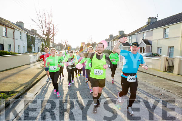 Helen Hannafin, Claire Leane, Greg McNamara and Paul Knightly, participants in the Kerry's Eye Valentines Weekend 10 mile road race on Sunday.