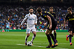 Isco Alarcon of Real Madrid (L) in action during the UEFA Champions League 2017-18 match between Real Madrid and Tottenham Hotspur FC at Estadio Santiago Bernabeu on 17 October 2017 in Madrid, Spain. Photo by Diego Gonzalez / Power Sport Images