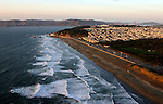 October 29, 2005; San Francisco, CA, USA; Aerial view of Ocean beach and the Sunset neighborhood of San Francisco, CA. Photo by: Phillip Carter