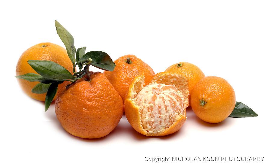 Tangerines still life.