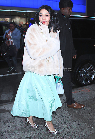 NEW YORK, NY - December 13: Vanessa Hudgens arriving at Good Morning America to promote her film, Second Act on December 13, 2018 in New York City. Credit: RW/MediaPunch