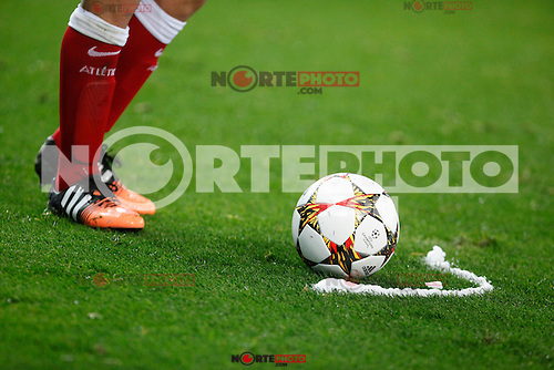 Atletico de Madrid´s Koke in front of the ball during Champions League soccer match between Atletico de Madrid and Olympiacos at Vicente Calderon stadium in Madrid, Spain. November 26, 2014. (ALTERPHOTOS/Victor Blanco) /NortePhoto