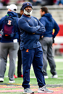College Park, MD - OCT 27, 2018: Illinois Fighting Illini head coach Lovie Smith before the game between Maryland and Illinois at Capital One Field at Maryland Stadium in College Park, MD. The Terrapins defeated Illinois to move to 5-3 on the season. (Photo by Phil Peters/Media Images International)