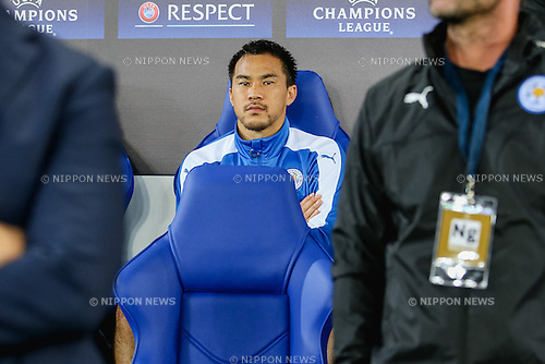 Shinji Okazaki (Leicester), SEPTEMBER 27, 2016 - Football / Soccer : Shinji Okazaki of Leicester City during the UEFA Champions League Group Stage match between Leicester City and FC Porto at King Power Stadium in Leicester, England. (Photo by AFLO)